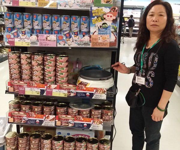 Lukow_Chef's Choice coconut milk_Demo display_AEON_1