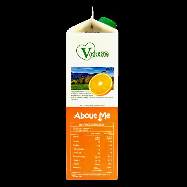 Orange 3side 600x600 - V-Care – 100% Orange Juice 2x1L