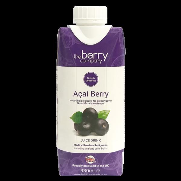 Acai Berry 330ml 1front 1 600x600 - The Berry Company – 巴西莓汁 4x330mL