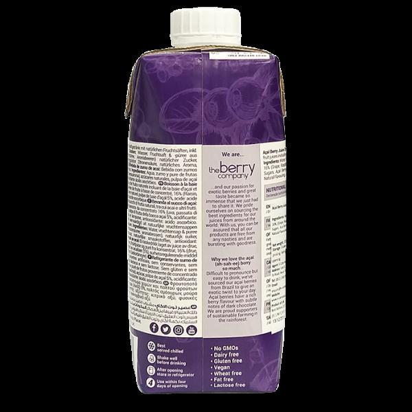 Acai Berry 330ml 2back 600x600 - The Berry Company – 巴西莓汁 4x330mL