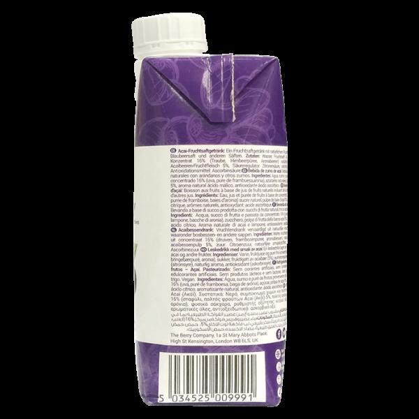 Acai Berry 330ml 4right 600x600 - The Berry Company – 巴西莓汁 4x330mL