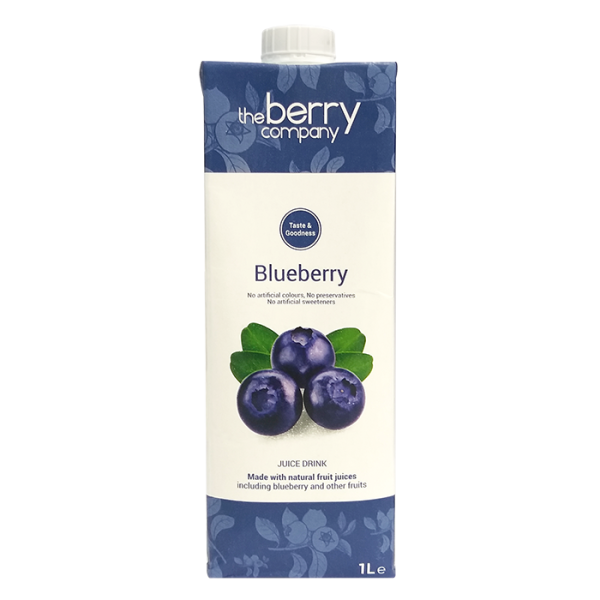 Blueberry 1L 1front 1 600x600 - The Berry Company – 藍莓汁 12x1L (原箱)