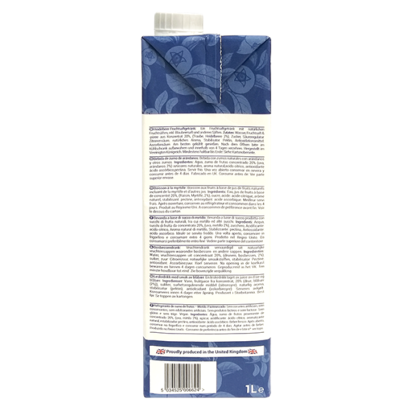 Blueberry 1L 4right 600x600 - The Berry Company – 藍莓汁 12x1L (原箱)