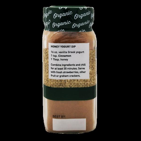Cinnamon 有機肉桂粉 4side 600x600 - The Spice Hunter – Organic Ground Cinnamon 6x1.7oz (Full Carton)