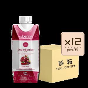 Online Shop Superberries 330ml x12 300x300 - The Berry Company – 紅雜莓汁 12x330mL (原箱)
