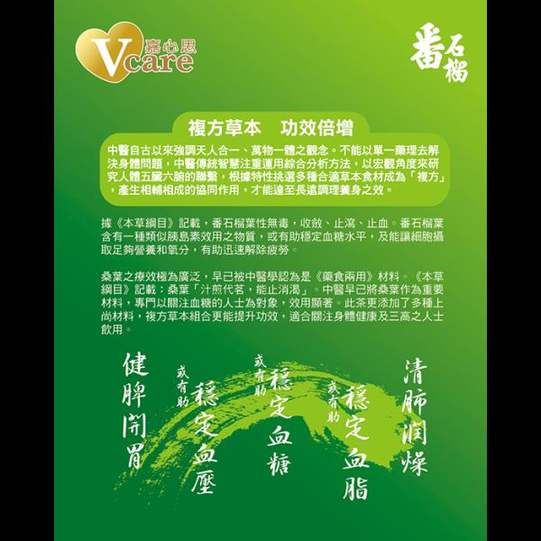 Guava and Mulberry Leaf Tea 2back 600x600 - 嘉心思 – 番石榴桑葉茶 12x15's (原箱)