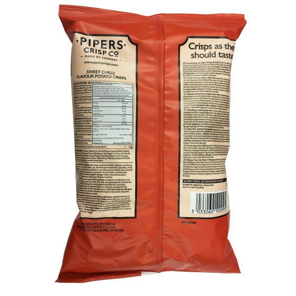 150g Chilli Back op 600x600 - Pipers Crisps - 甜紅椒味薯片 2x150g