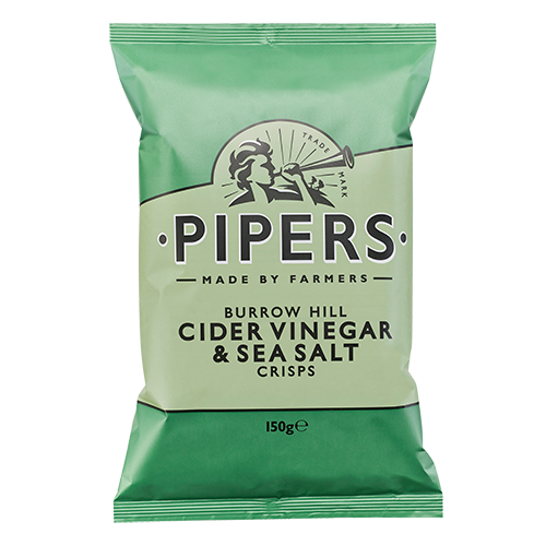 PIPERS Cider Vinegar Sea Salt 150g green 500x500 - Pipers Crisps - 蘋果醋海鹽味薯片 2x150g