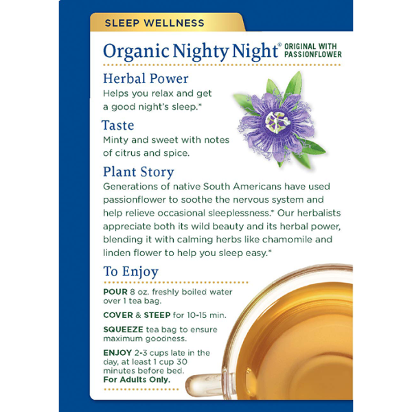 Nighty Night 有機安眠茶 2back 600x600 - Organic Nighty Night 6x16's (Full Carton)