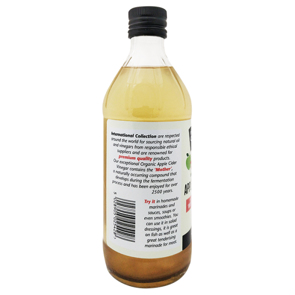 IC Apple Cider Vinegar 4barcode 600x600 - 有機蘋果醋 6x473mL (原箱)