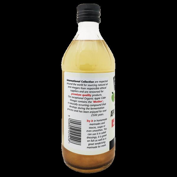 IC Apple Cider Vinegar 4barcode 600x600 - 有機蘋果醋 6x473mL (原箱)