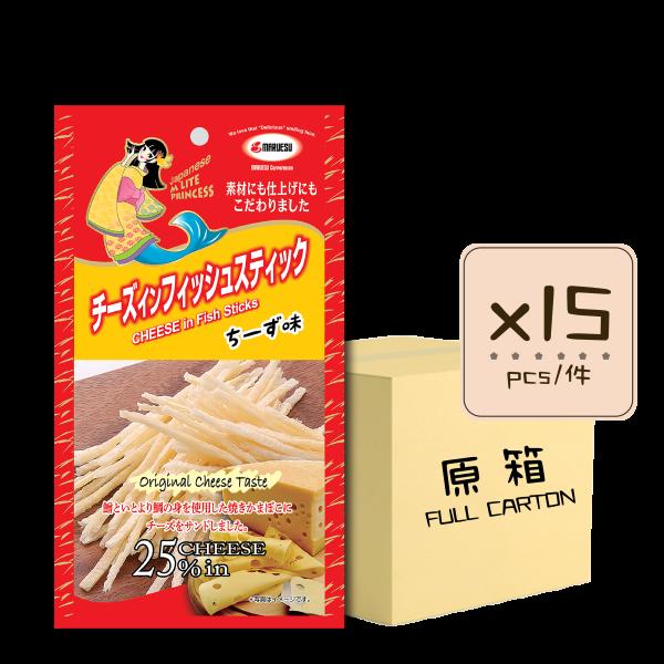 MLite cheese Fish Stick original x15 600x600 - 原味芝士魚絲 15x20g (原箱)