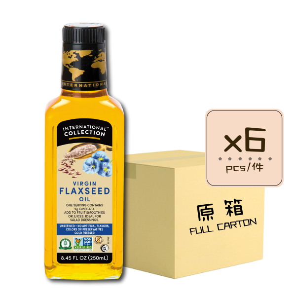 Online Shop IC SPEC Flaxseed 250ml x6 600x600 - 初榨亞麻籽油 6x250mL (原箱)