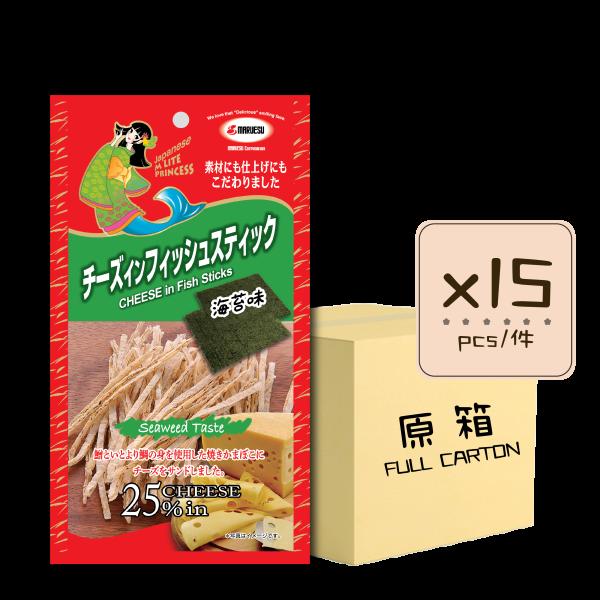 Online Shop MLite seaweed Fish Stick x15 600x600 - 海苔味芝士魚絲 15x20g (原箱)