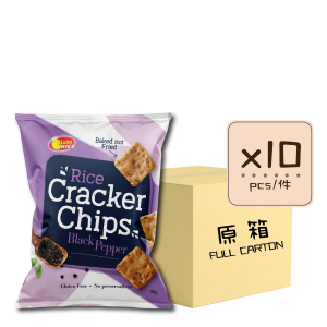 Online Shop Rice Cracker Chips Black Pepper x10 300x300 - 黑胡椒薄脆米餅 10x90g (原箱)