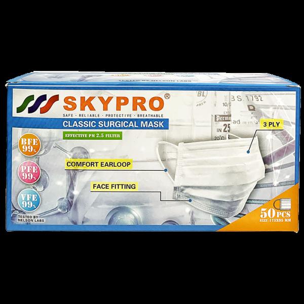 skypro classic 01face 600x600 - Skypro 三層外科口罩 (成人)
