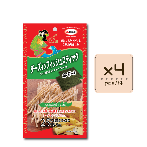 Online Shop MLite seaweed Fish Stick x4 600x600 - 海苔味芝士魚絲 4x20g