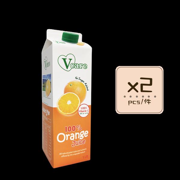Online Shop Orange Juice x2 600x600 - V-Care – 100% Orange Juice 2x1L