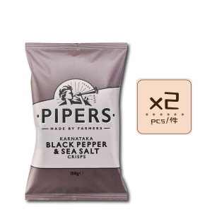 Online Shop Pipers 2018 Black Pepper Sea Salt 150g x2 300x300 - Pipers Crisps - 黑椒海鹽味薯片 2x150g