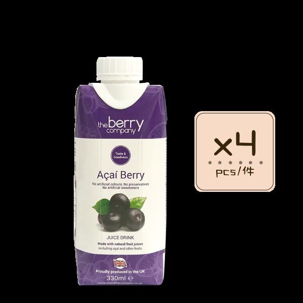Online Shop Acai Berry 330ml x4 600x600 - The Berry Company – 巴西莓汁 4x330mL