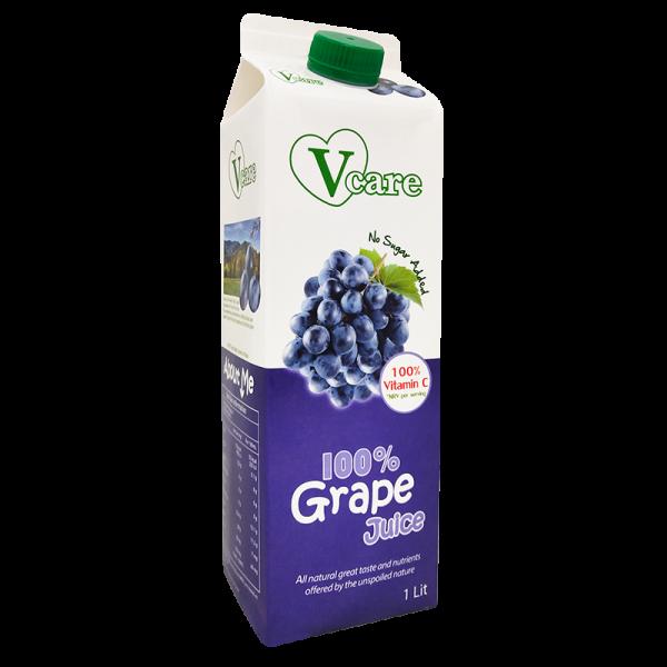 grape 1 600x600 - V-Care – 100% Grape Juice 12x1L (Full Carton)