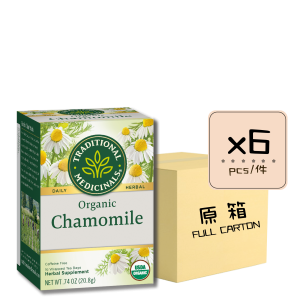 Chamomile 6pcs 300x300 - 有機洋甘菊茶 6x16's (原箱)
