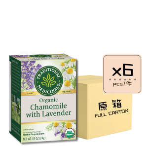Chamomile with Lavender 6pcs 300x300 - 有機洋甘菊薰衣草茶 6x16's (原箱)